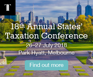 Ad for States Taxation Conference