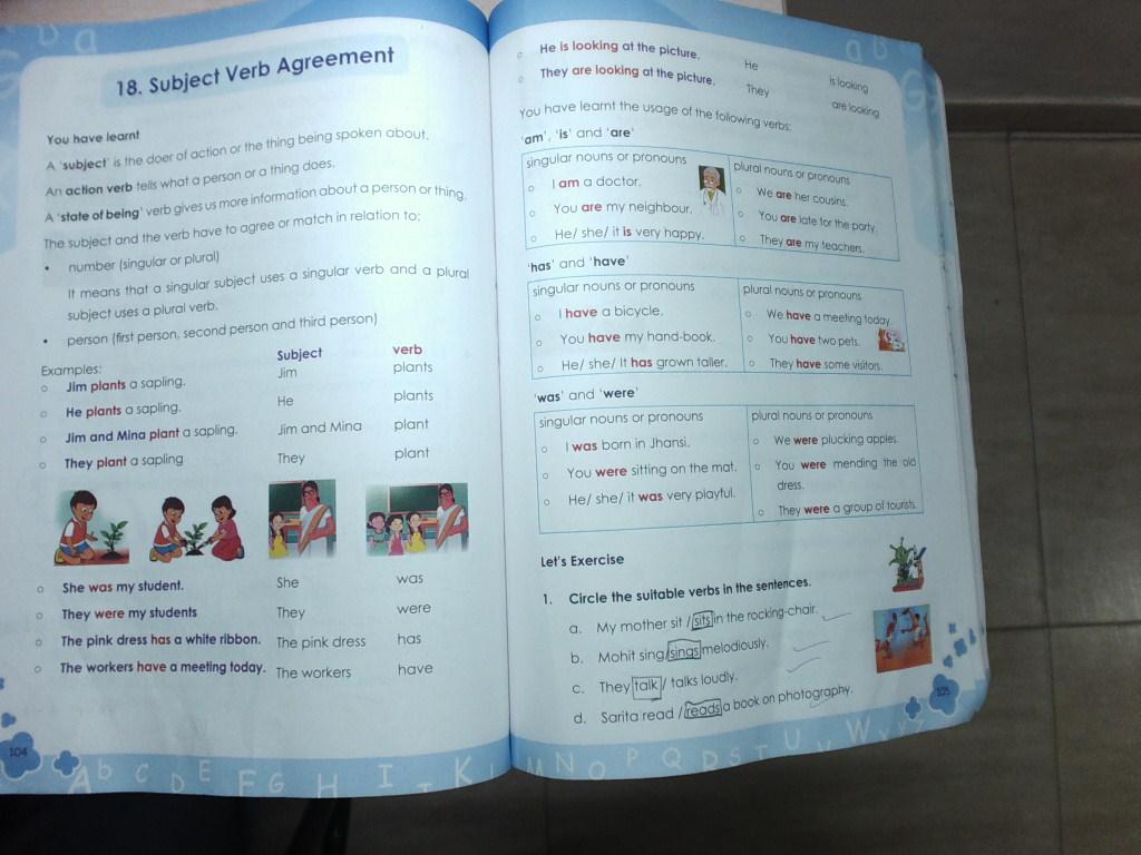Eng Ch Subject Verb Agreement Grammar Galaxy Textbook Page104