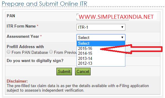 Itr 1 Form 2014-15 Pdf Download