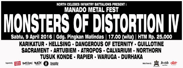 """Next Coming Event Manado Metal Fest """" MONSTERS OF DISTORTION Part. IV WILL BE CRUSHED !!!"""