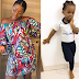 Glowing Actress Chacha Eke Faani Stylishly Flaunts Her DAUGHTER this morning... Lovely
