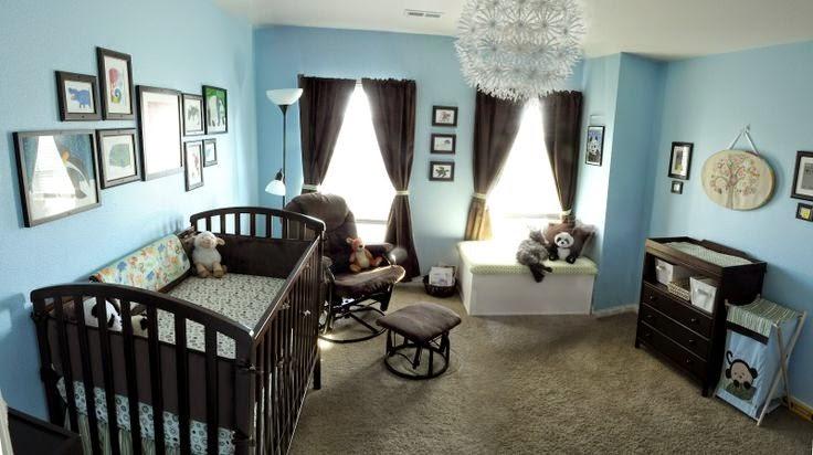 C mo decorar el cuarto del beb de color marr n y celeste for Como decorar el cuarto de mi bebe