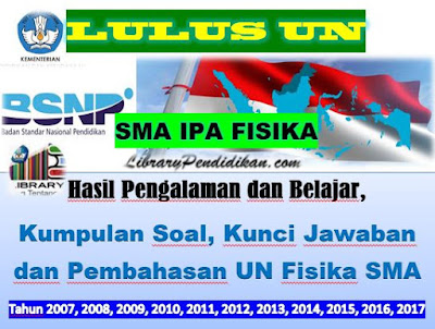 Hasil Pengalaman dan Belajar, Kumpulan Soal, Kunci Jawaban dan Pembahasan UN Fisika SMA Tahun 2007, 2008, 2009, 2010, 2011, 2012, 2013, 2014, 2015, 2016, 2017