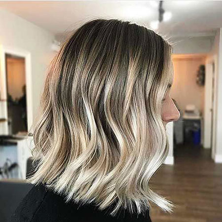 ombre short hair with bangs