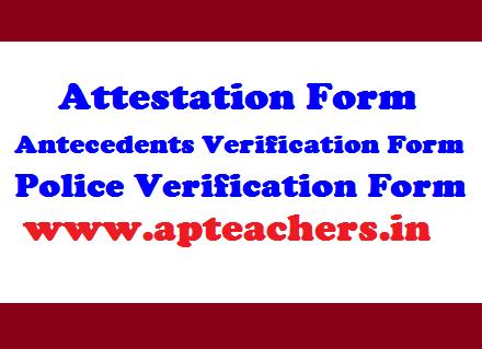 Attestation Form - Antecedents Verification Form - Police