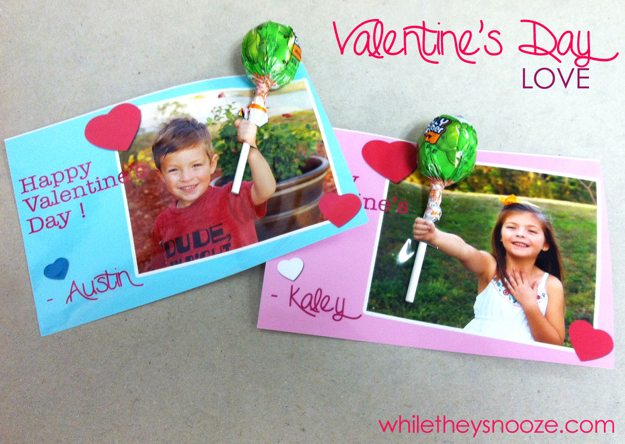 While They Snooze Quick Kid Valentine S Day Cards For