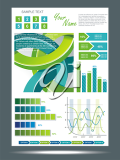 Clipart image of an infographics template