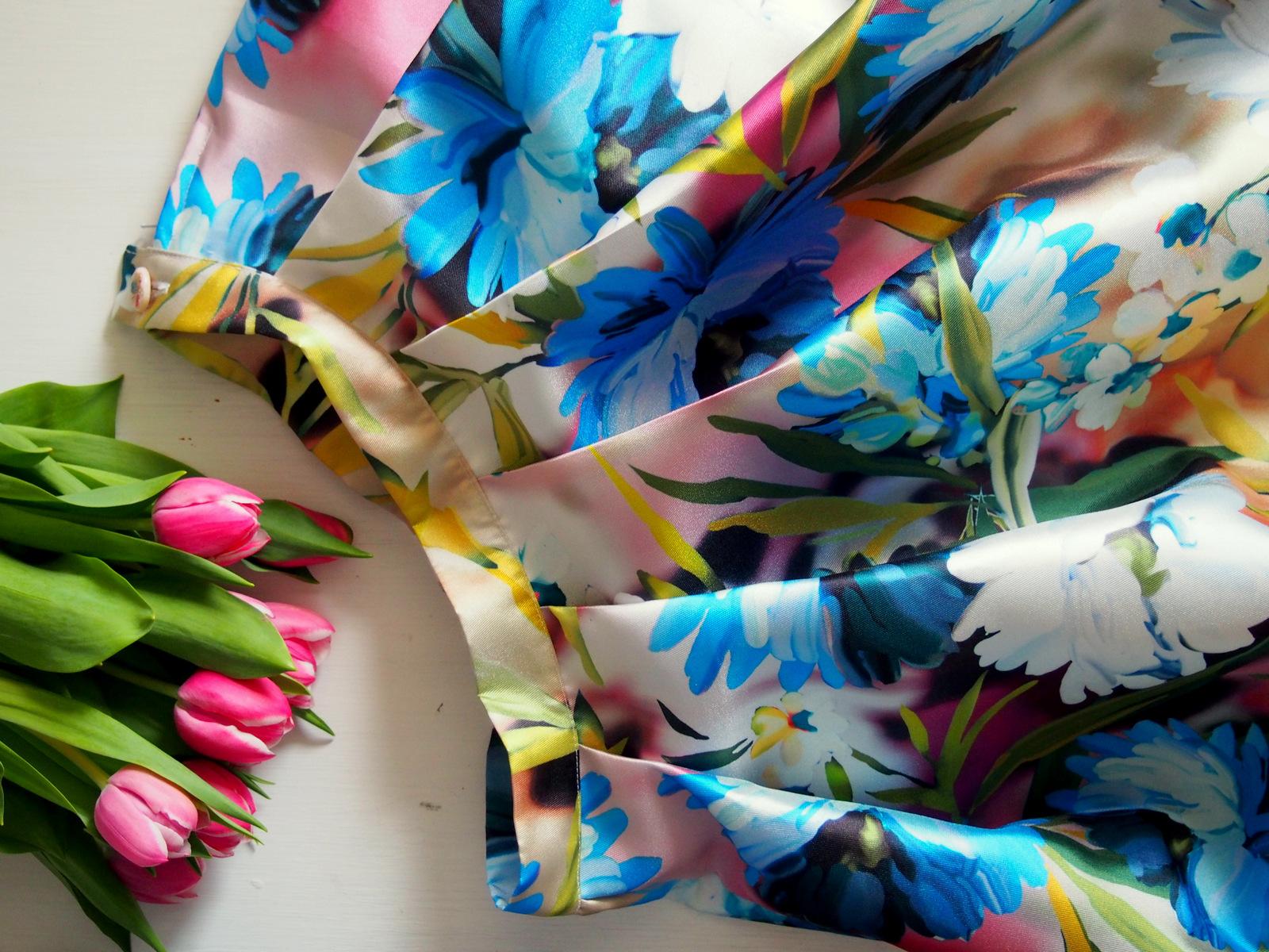 SIY: ako sme šili kvetinovú midi sukňu // floral midi skirt