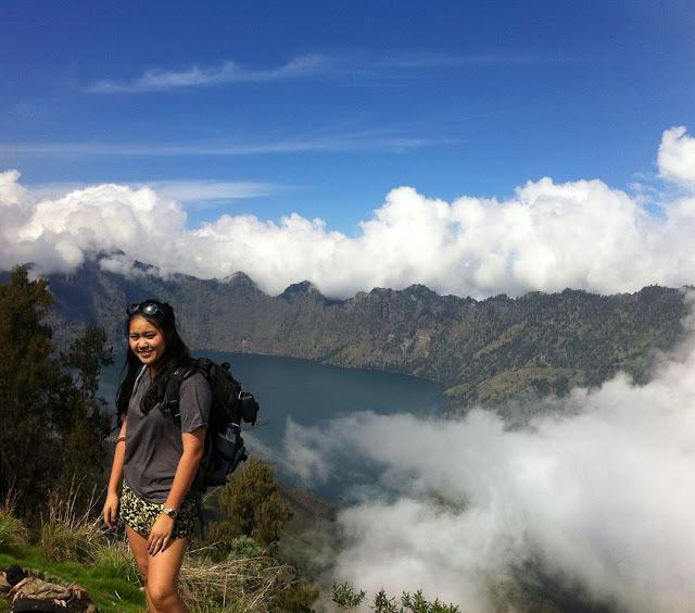 foto puncak gunung rinjani lombok