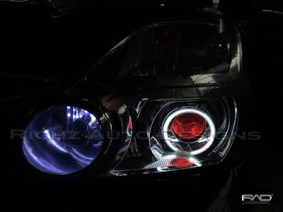 nissa xtrail custom angel eyes dan devil eyes