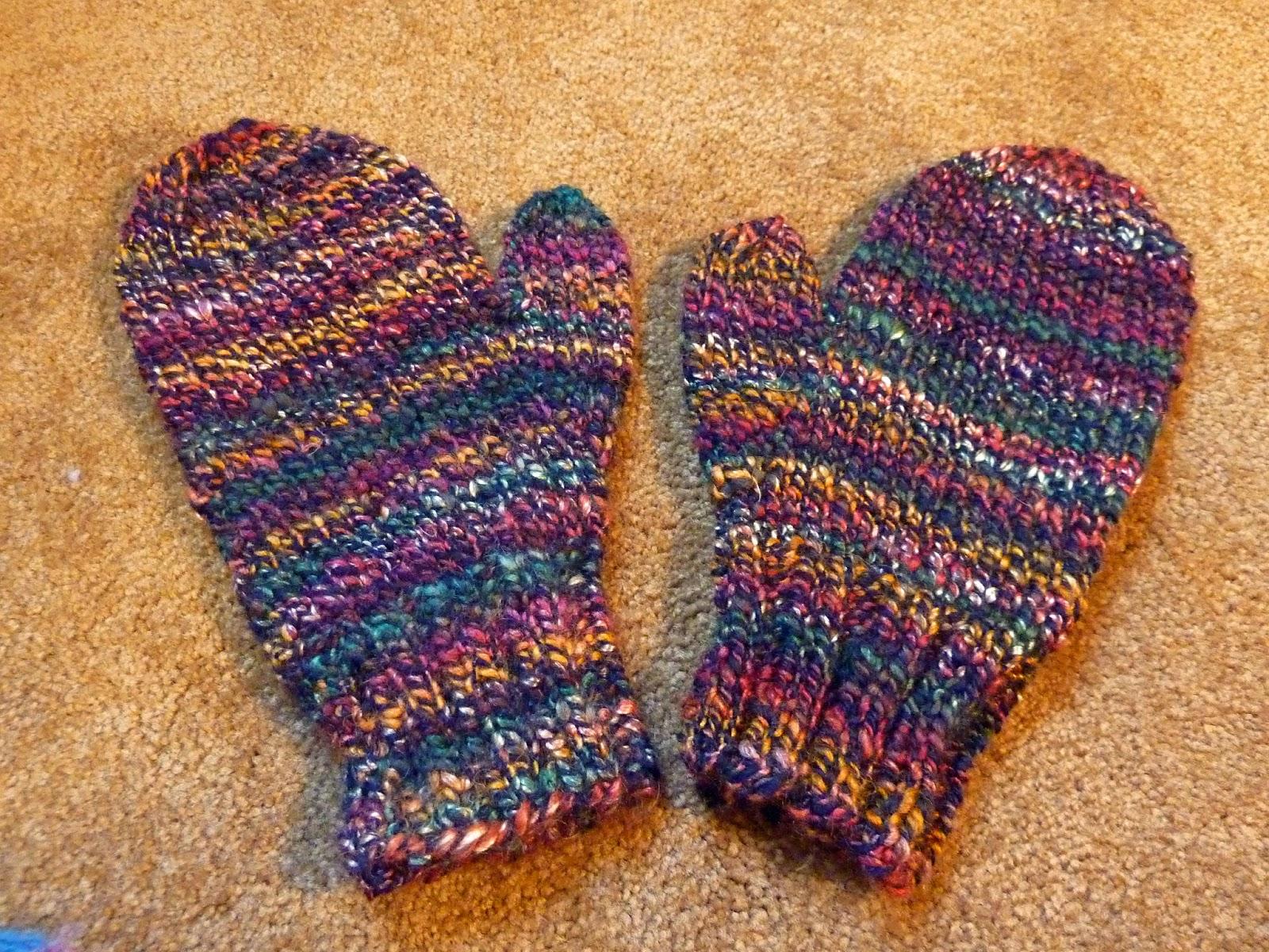 Spinning Memories - Knitting Love: 2 Needle Mitten Pattern