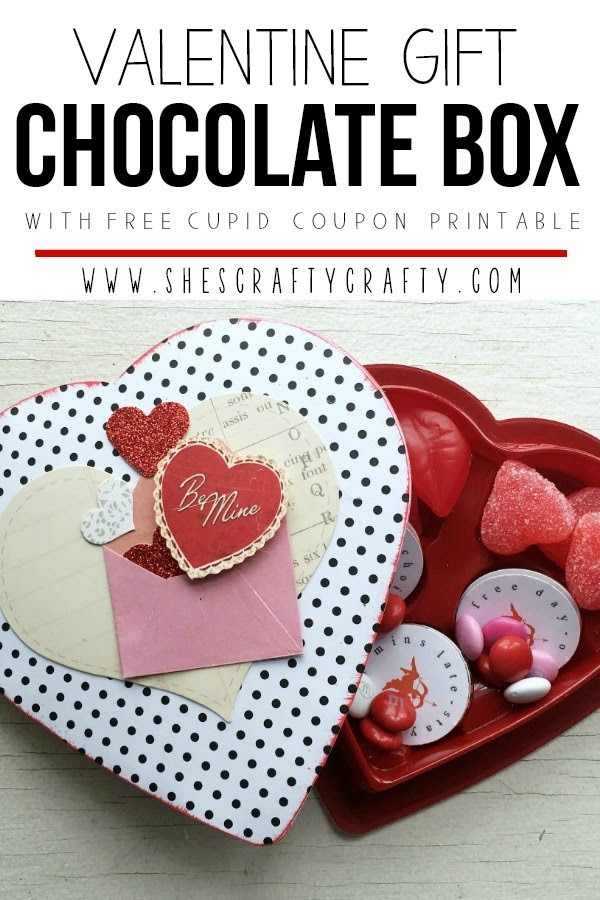 Valentine Gift Chocolate Box with Free Cupid Coupons