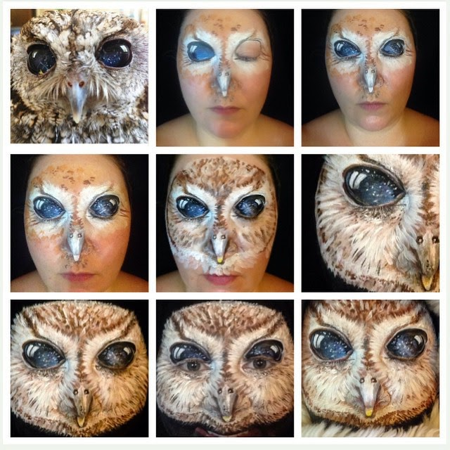 10-Owl-Maria-Malone-Guerbaa-Face-Painting-Artist-Morphs-like-a-Chameleon-Shapeshifter-www-designstack-co