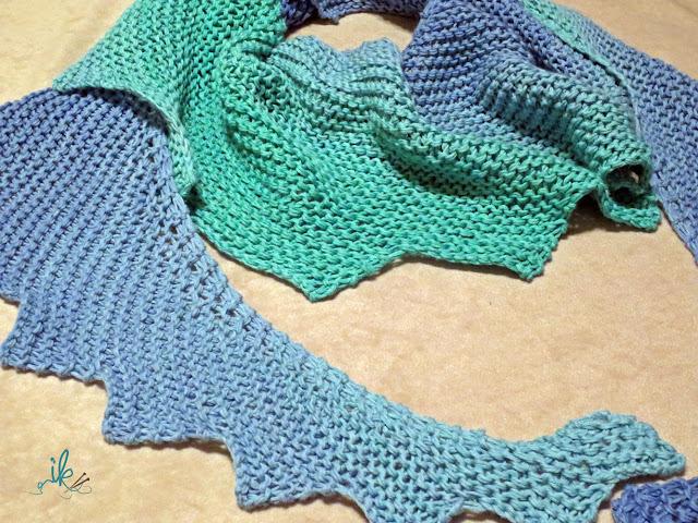 Drachenschwanz oder Drachenschal stricken
