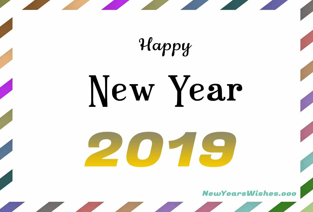 happy new year 2019 postcard