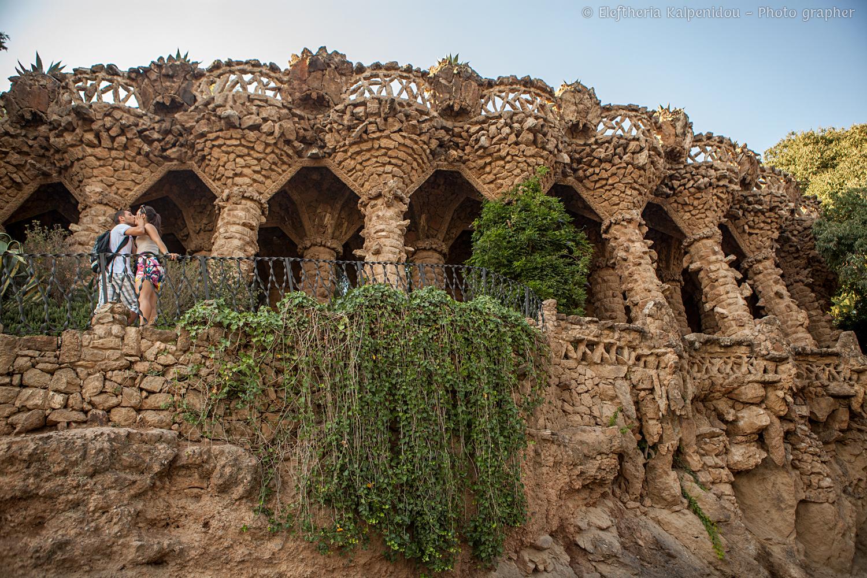 Park Güell, Antoni Gaudí. Carmel Hill, Barcelona, Catalonia (Spain ...