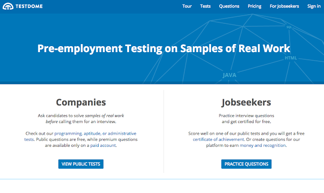TestDome Homepage