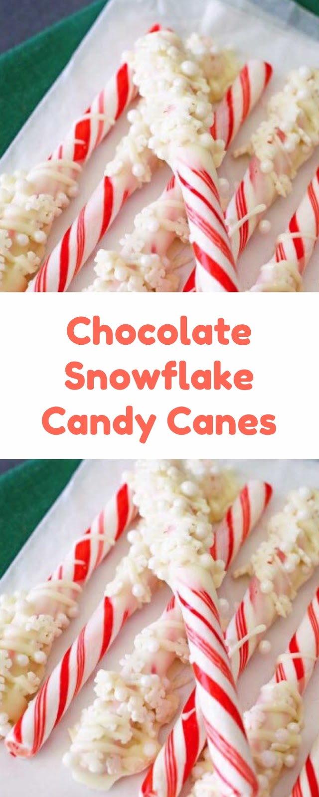 Chocolate Snowflake Candy Canes