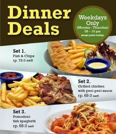 Harga Menu Dinner Deals di Fish and Co 2017