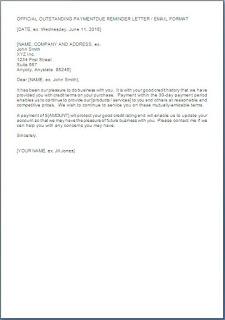 Polite Payment Reminder Letter Format