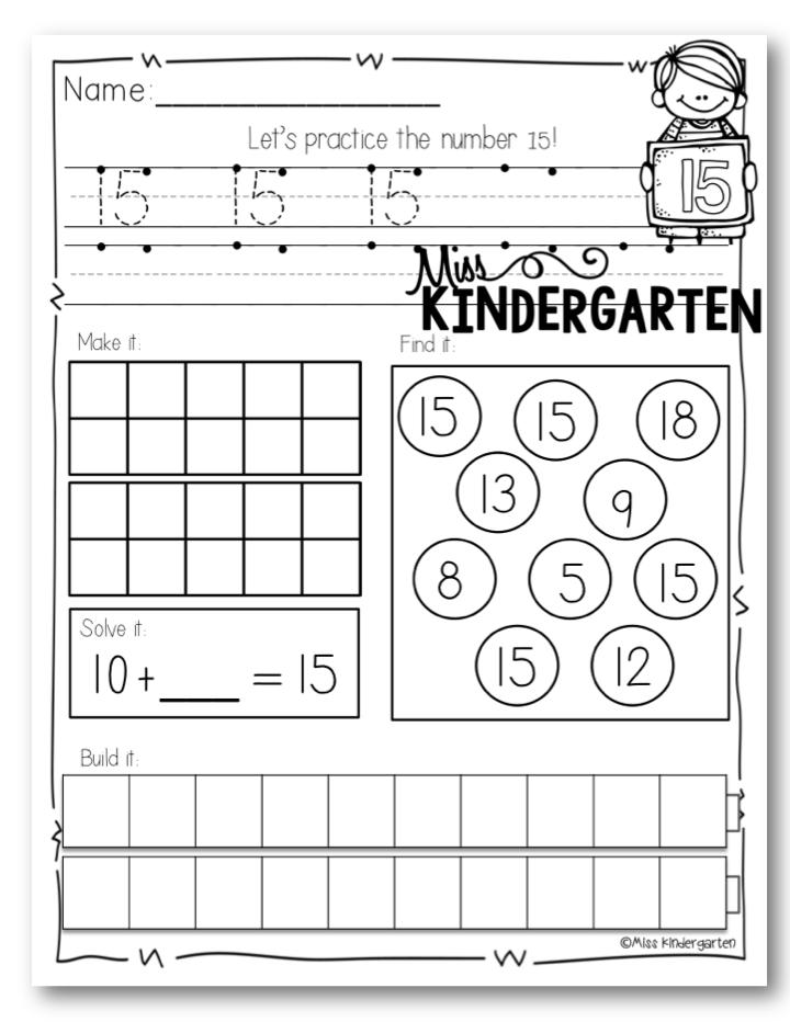 Number Formation Posters - Miss Kindergarten