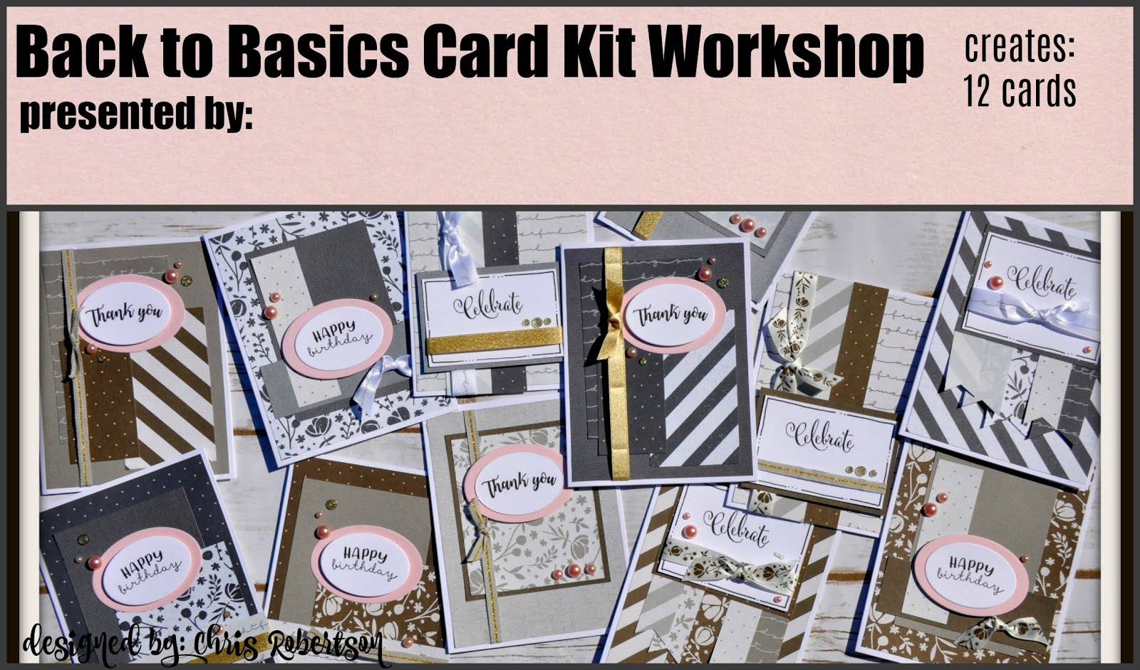 Basics Fundamental Cardmaking Workshop