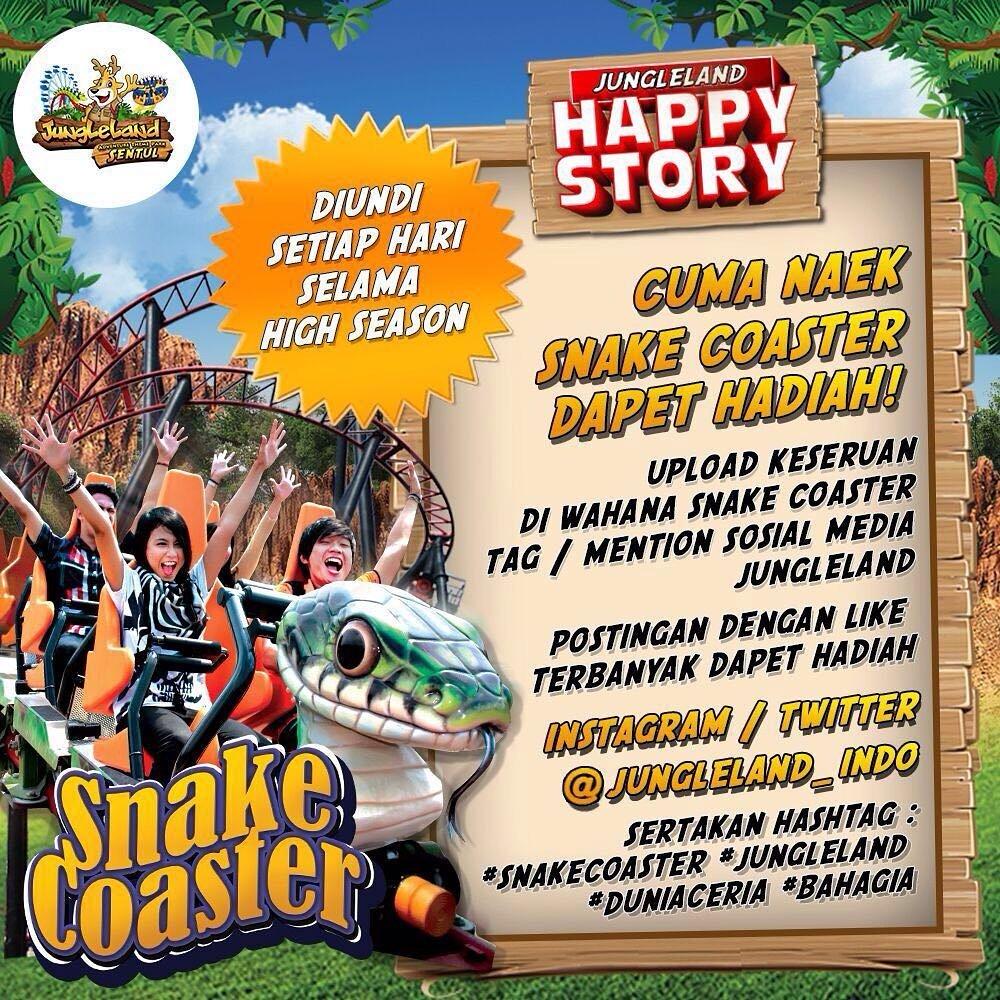 Snake Coaster Jungleland Sentul Berita Bogor Annual Pass Jungle Land