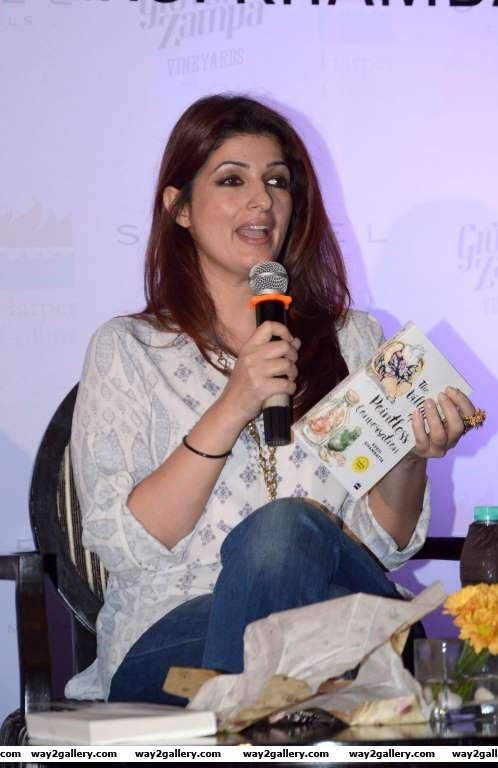 Twinkle Khanna was present at the launch of the book The Village of Pointless Conversations