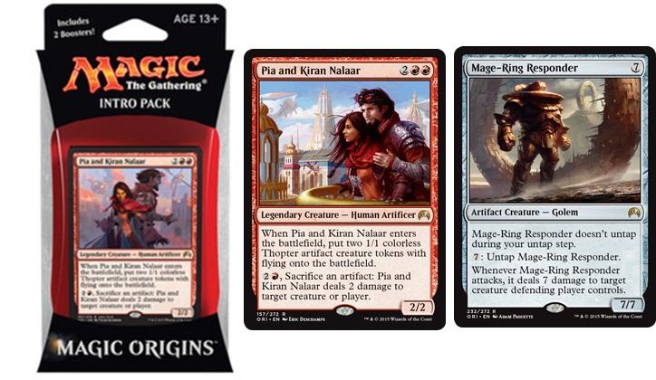 Intro Pack Pia and Kiran Nalaar Red Wizards of the Coast MTG Magic Origins Theme Deck includes 2 Booster Packs /& Alternate Art Premium Rare Promo Magic the Gathering