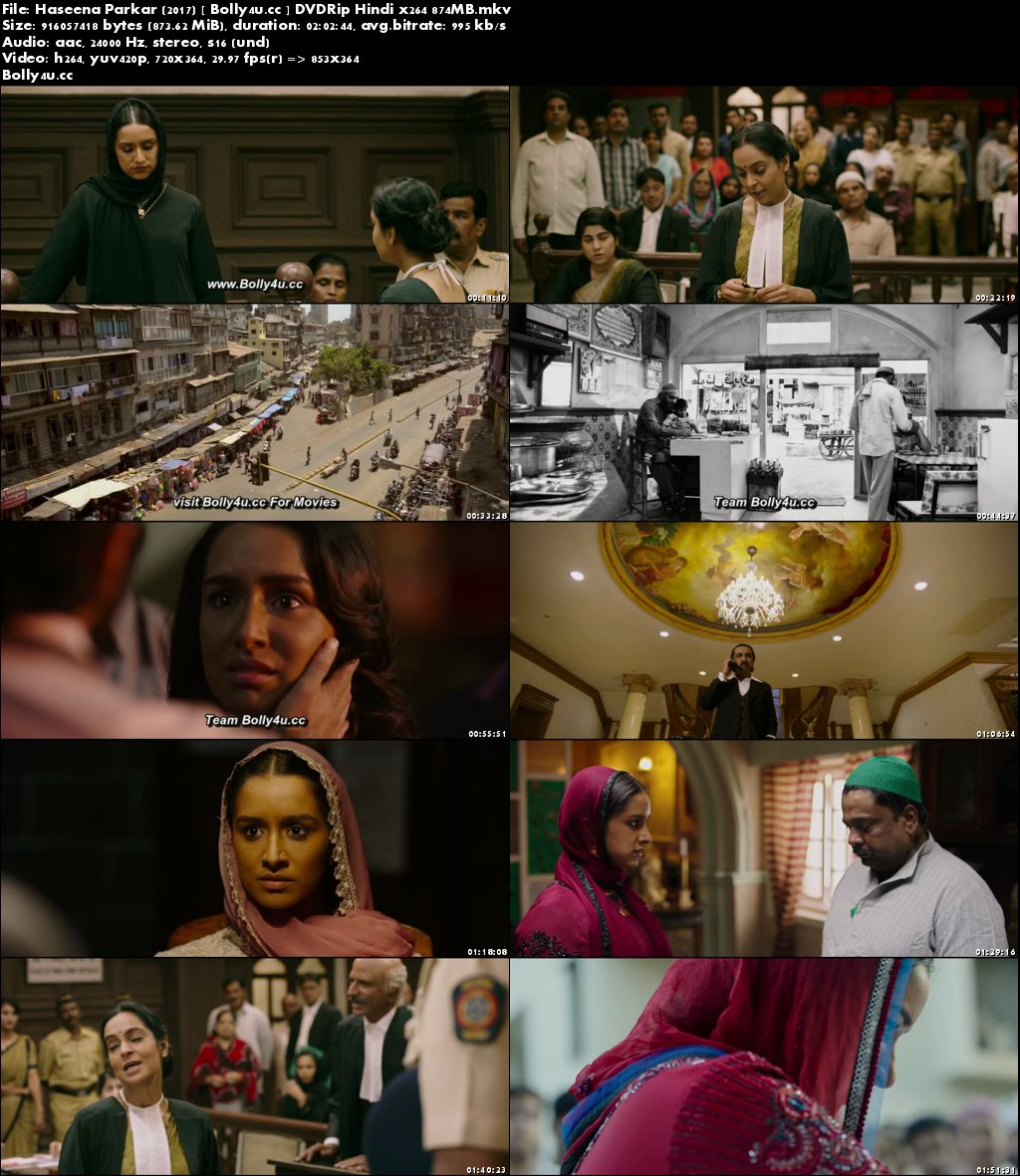 Haseena Parkar 2017 DVDRip 850Mb Hindi Movie x264 Download