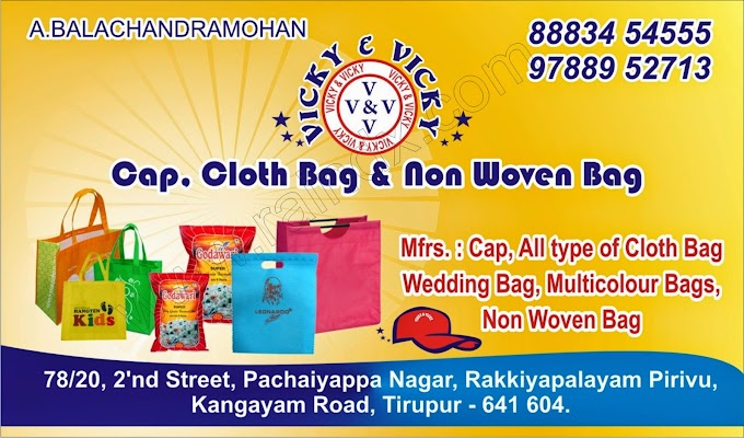 Business card :::Vicky & Vicky Non Woven Bag TIRUPUR:::
