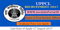 Uttar Pradesh Power Corporation Limited Recruitment 2017-Private Secretary and Review Officer