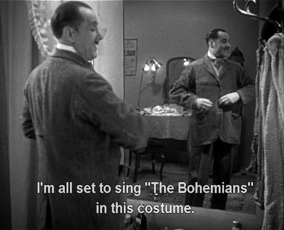 I'm all set to sing The Bohemians in this costume
