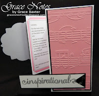 piano gatefold birthday card, embossed right panel. By Grace Baxter