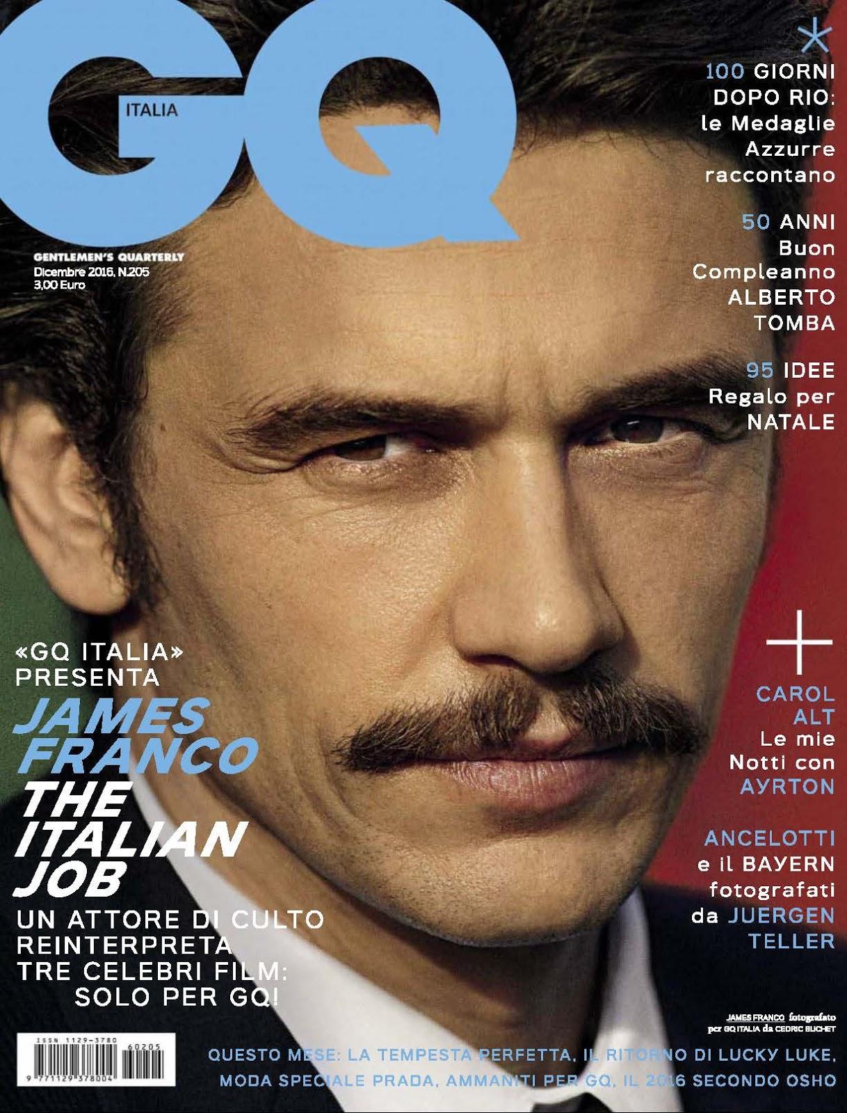 El actor James Franco posa para Cedridc Buchet en la edición de diciembre de GQ Italia