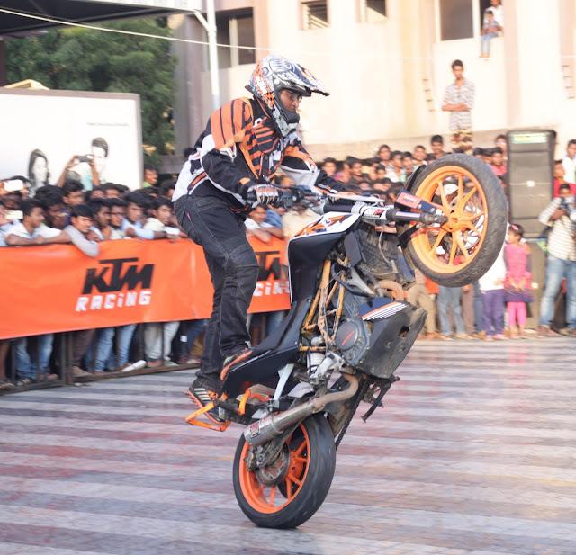 KTM organises a spectacular Stunt show in Kadapa