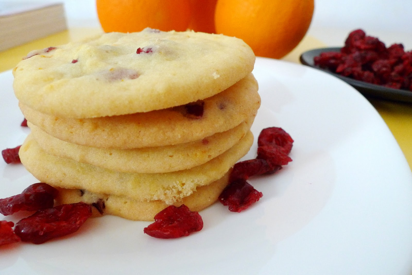 Cranberry Cookies With Orange Zest Sherbakes