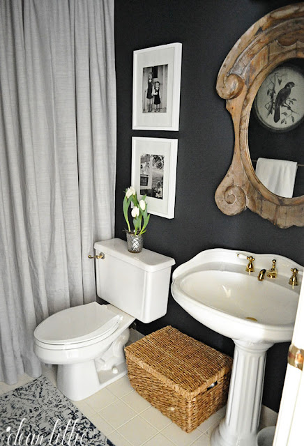 While I am deciding on whether we first tackle the girls  bathroom upstairs  or this one downstairs I decided to give this bathroom a quick mini makeover. Dear Lillie  Our  62 Mini Bathroom Makeover