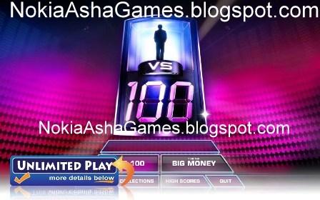1 vs 100 240x400 java game Download for Nokia Asha 305 306 308 309