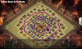 War Base Coc TH 10 Anti 3 Bintang
