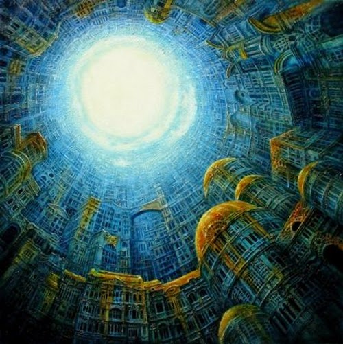 11-Gate-of-Heaven-Marcin-Kołpanowicz-Painting-Architecture-in-Surreal-Worlds-www-designstack-co