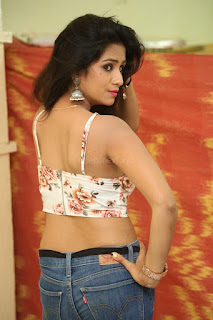 Deekshita Parvathi in a short crop top and Denim Jeans Spicy Pics Beautiful Actress Deekshita Parvathi January 2017 CelebxNext (52).JPG