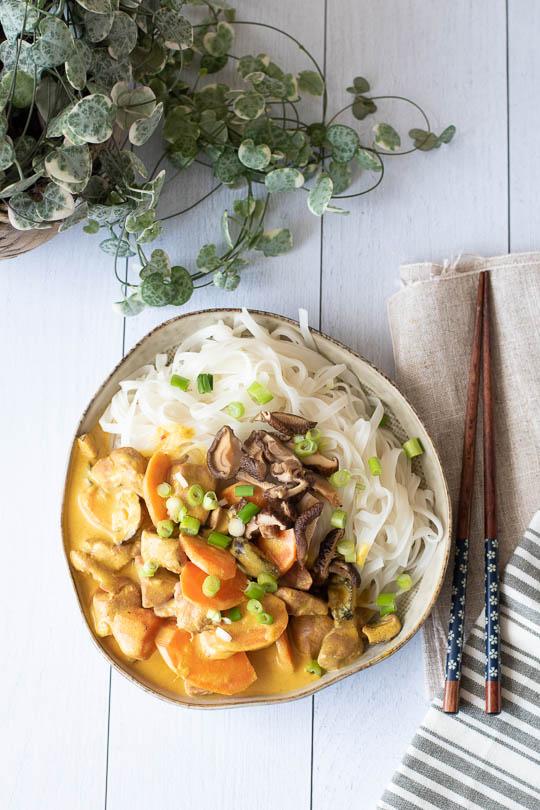 recette Canard au lait de coco curry gingembre