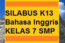 Silabus K13 Bahasa Inggris Kelas 7 Smp Revisi Baru Kherysuryawan Id