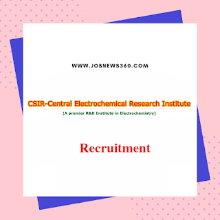 CECRI Karaikudi Recruitment 2020 for Project Assistant & Senior Research Fellow