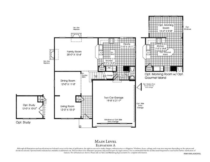 Our Road to a New Home Building with Ryan Homes Final OptionsSpecs – Ryan Homes Venice Floor Plan