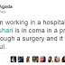 Twitter User Claims His Cousin Told Him President Buhari Is In Coma In A London Hospital