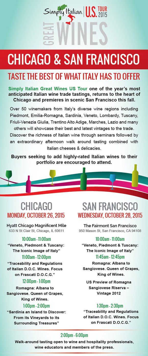 Reflections on Wine: Simply Italian - Chicago and San Francisco