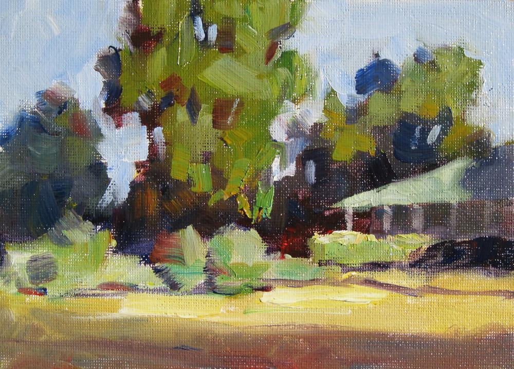 TOM BROWN FINE ART: TREES, HOUSE, SKY
