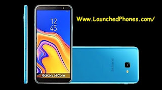 is launched equally the 2nd Android Go mobile telephone of the companionship afterward  Samsung Milky Way J4 Core launched afterward J2 Core